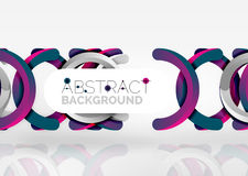 Modern 3d ring vector abstract background. Modern 3d ring composition in grey and white space, vector abstract background Stock Images
