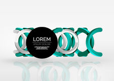 Modern 3d ring vector abstract background Royalty Free Stock Photos