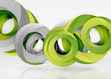 Modern 3d ring vector abstract background Royalty Free Stock Photo