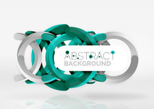 Modern 3d ring vector abstract background. Modern 3d ring composition in grey and white space, vector abstract background Royalty Free Stock Photo