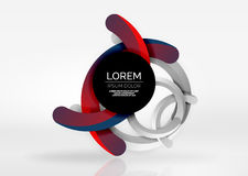 Modern 3d ring vector abstract background. Modern 3d ring composition in grey and white space, vector abstract background Stock Photography