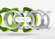 Modern 3d ring vector abstract background. Modern 3d ring composition in grey and white space, vector abstract background Royalty Free Stock Images
