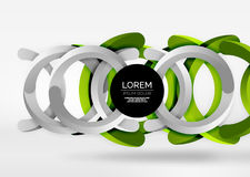 Modern 3d ring vector abstract background. Modern 3d ring composition in grey and white space, vector abstract background Stock Photos