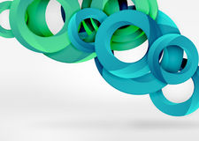 Modern 3d ring vector abstract background Stock Photo