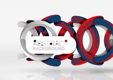 Modern 3d ring vector abstract background Royalty Free Stock Photography