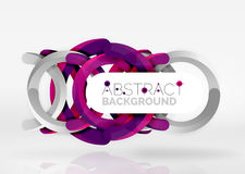 Modern 3d ring vector abstract background. Modern 3d ring composition in grey and white space, vector abstract background Royalty Free Stock Photos