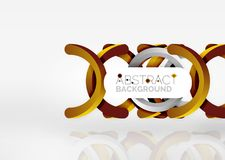 Modern 3d ring vector abstract background. Modern 3d ring composition in grey and white space, vector abstract background Stock Photo