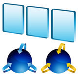 Modern 3D Shapes. An image of modern 3D shapes Stock Image