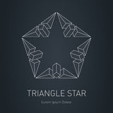 Modern 3D stylish logo. Design element with squares, triangles  Royalty Free Stock Image