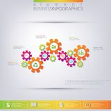 Modern 3D template infographic . Can be used for Royalty Free Stock Image