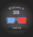 Modern 3d video announcement placard Royalty Free Stock Photo