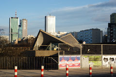 Modern dak boven het Station van Warschau Ochota Royalty-vrije Stock Foto