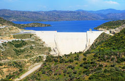 Modern dam in Turkey Stock Images