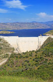 Modern dam in Turkey Royalty Free Stock Images