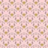 Modern damask pattern in hipster style Stock Photo