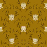 Modern damask pattern in hipster style Royalty Free Stock Images