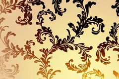 Modern damask wallpaper Royalty Free Stock Image