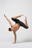 Modern dance. Young modern danecr posing over white background Royalty Free Stock Photography