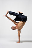 Modern dance. Young modern danecr posing over white background Royalty Free Stock Photos