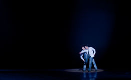 Modern dance: the brothers Stock Photos