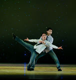 Modern dance: the brothers Stock Photo