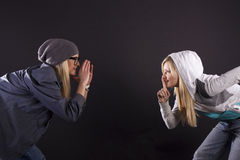 Modern dance. Hip-hop. Royalty Free Stock Image
