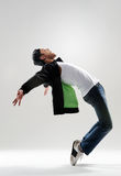Modern dance move. Expressive dance move where the modern dancer bends backwards and shows his emotions Stock Photos
