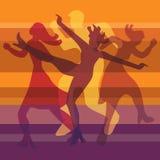 Modern dance orange background Royalty Free Stock Photo