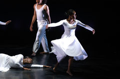 Modern dance performance 4. Philadelphia's Modern Dance Company Grace performs on stage at the Anneburg Theater June 13, 2006 at there annual performance stock image