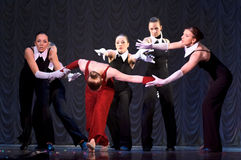 Modern dance performance Stock Images