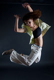 Modern dancer. Poses on black background stock photography