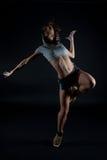 Modern dancer. Poses on black background royalty free stock photos