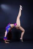 Modern dancer in action. Against black background royalty free stock image