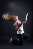 Modern dancer in action Royalty Free Stock Photography