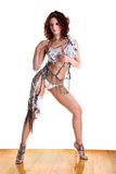 Modern dancer in ballroom Royalty Free Stock Photo
