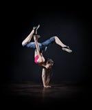 Modern dancer (dark version) Stock Images