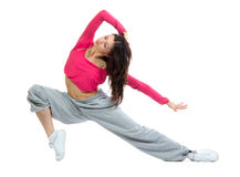 Modern dancer girl warming up, dancing, stretching Royalty Free Stock Photos