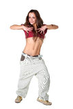 Modern dancer isolated on white Royalty Free Stock Images