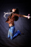 Modern dancer in jump Royalty Free Stock Image
