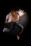 Modern dancer jumping Royalty Free Stock Images