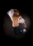 Modern dancer jumping Stock Image