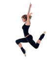 Modern dancer jumping Stock Photos