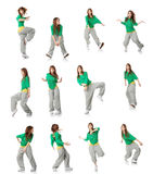 Modern dancer poses Stock Images