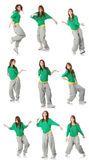 Modern dancer poses Royalty Free Stock Image