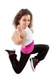 Modern dancer posing stock images