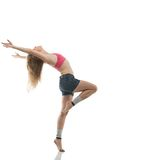 Modern dancer. Professional modern dancer posing in the studio royalty free stock photo