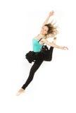 Modern dancer woman high jump Stock Photos