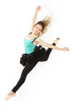 Modern dancer woman high jump Royalty Free Stock Image