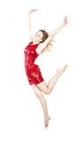 Modern dancer woman poses in studio Stock Images