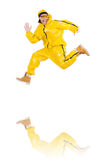 Modern dancer in yellow dress isolated Royalty Free Stock Photo